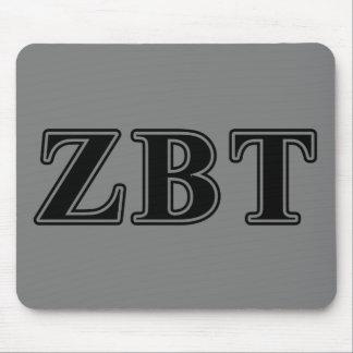 Zeta Beta Tau Black Letters Mouse Pad