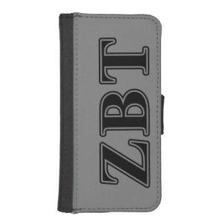 Zeta Beta Tau Black Letters Phone Wallet Case