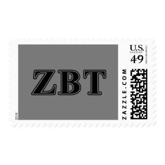 Zeta Beta Tau Black Letters Postage