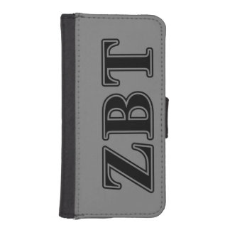 Zeta Beta Tau Black Letters Wallet Phone Case For iPhone SE/5/5s