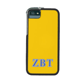 Zeta Beta Tau Blue Letters Cover For iPhone 5/5S