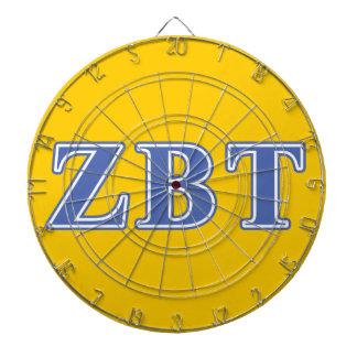 Zeta Beta Tau Blue Letters Dartboards