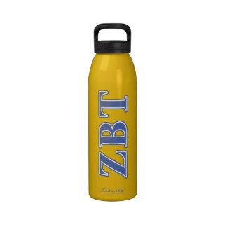 Zeta Beta Tau Blue Letters Drinking Bottle