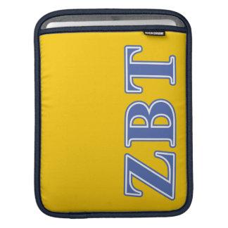 Zeta Beta Tau Blue Letters iPad Sleeves