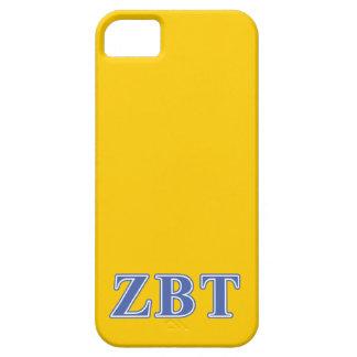 Zeta Beta Tau Blue Letters iPhone 5 Covers