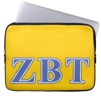 Zeta Beta Tau Blue Letters Laptop Computer Sleeve