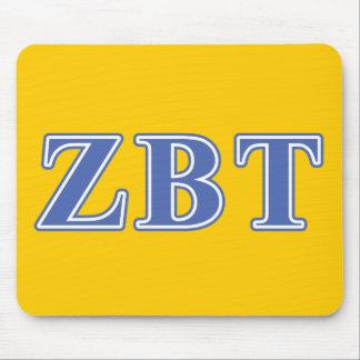Zeta Beta Tau Blue Letters Mouse Pad