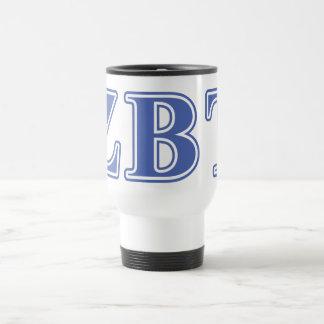 Zeta Beta Tau Blue Letters Mug
