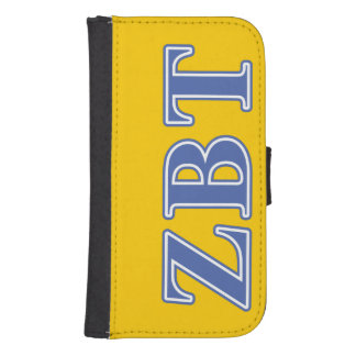 Zeta Beta Tau Blue Letters Phone Wallet Cases