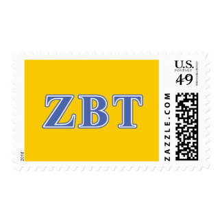 Zeta Beta Tau Blue Letters Postage Stamps
