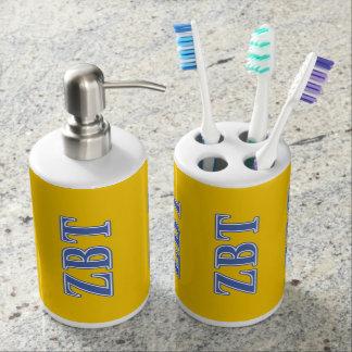 Zeta Beta Tau Blue Letters Toothbrush Holders