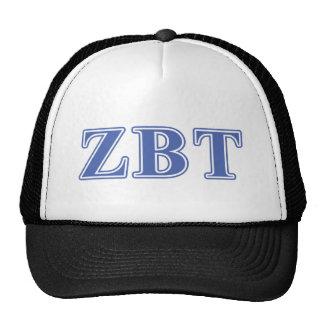 Zeta Beta Tau Blue Letters Trucker Hat