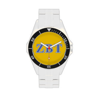 Zeta Beta Tau Blue Letters Wrist Watches