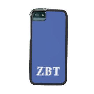 Zeta Beta Tau White and Blue Letters iPhone 5 Cover