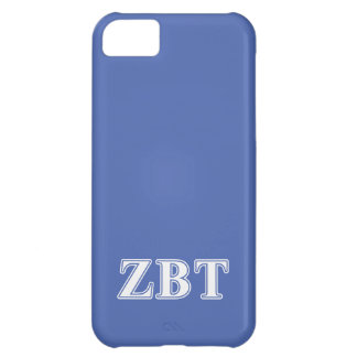 Zeta Beta Tau White and Blue Letters Case For iPhone 5C