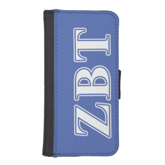 Zeta Beta Tau White and Blue Letters iPhone SE/5/5s Wallet