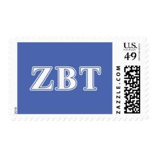 Zeta Beta Tau White and Blue Letters Postage Stamps