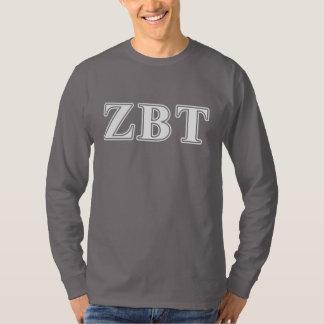 Zeta Beta Tau White and Yellow Letters T-Shirt