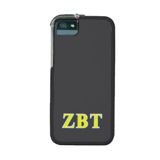 Zeta Beta Tau Yellow and Blue Letters iPhone 5 Case