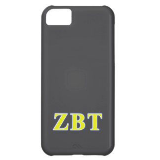 Zeta Beta Tau Yellow and Blue Letters Cover For iPhone 5C