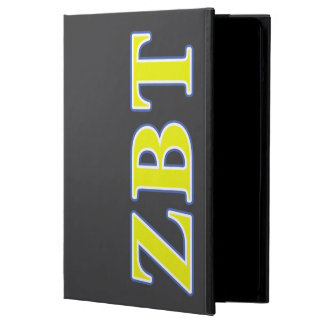 Zeta Beta Tau Yellow and Blue Letters iPad Air Cases