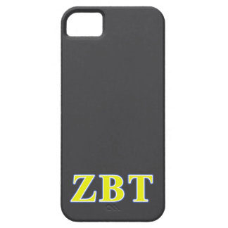 Zeta Beta Tau Yellow and Blue Letters iPhone SE/5/5s Case