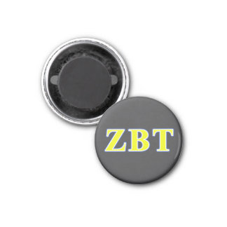 Zeta Beta Tau Yellow and Blue Letters Magnet