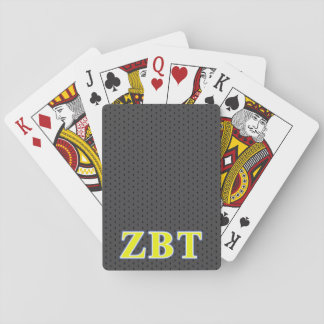 Zeta Beta Tau Yellow and Blue Letters Deck Of Cards