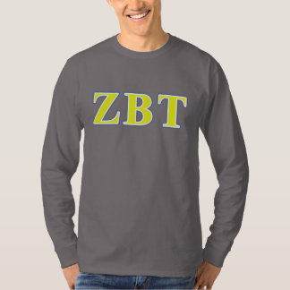 Zeta Beta Tau Yellow and Blue Letters T-Shirt