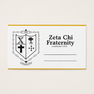 Fraternal business cards templates zazzle zeta chi business cards reheart Image collections