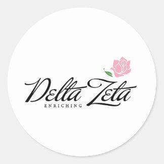 Zeta del delta - enriqueciendo pegatina redonda