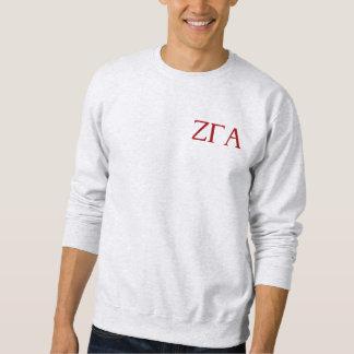 Zeta Gamma Alpha Ash Letter and Crest Sweatshirt