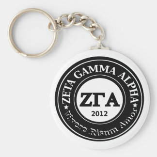 Zeta Gamma Alpha Circle Keyring Keychain