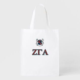 Zeta Gamma Alpha Crest and Letter Shopping bag Reusable Grocery Bag