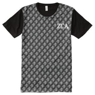 Zeta Gamma Alpha Crest Check Darkrock Tee