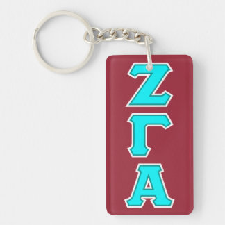 Zeta Gamma Alpha Fraternity Keyring Keychain