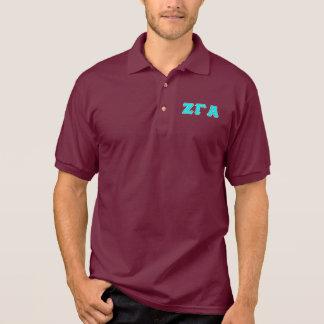 Zeta Gamma Alpha Fraternity Maroon Polo Shirt
