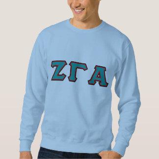 Zeta Gamma Alpha Lettered Crewneck Sweatshirt