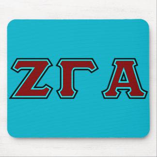 Zeta Gamma Alpha Lettered Mouse Pad