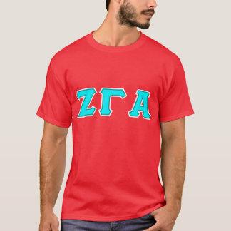 Zeta Gamma Alpha Red Letter T Shirt