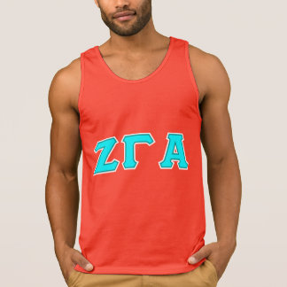 Zeta Gamma Alpha Red Letter Tank Top