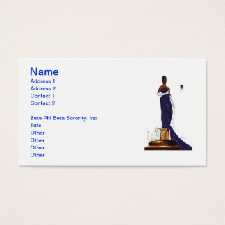 Zeta Phi Beta Sorority Business Cards