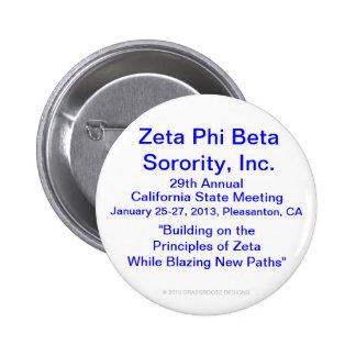 Zeta Phi Beta Sorority Inc 29na reunión anual Pins