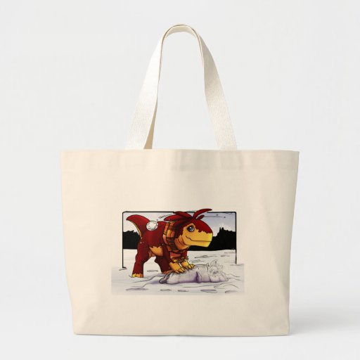 Zeta Snowball Fight! Canvas Bags