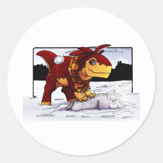 Zeta Snowball Fight! Classic Round Sticker