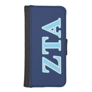Zeta Tau Alpha Baby Blue Letters iPhone 5 Wallet
