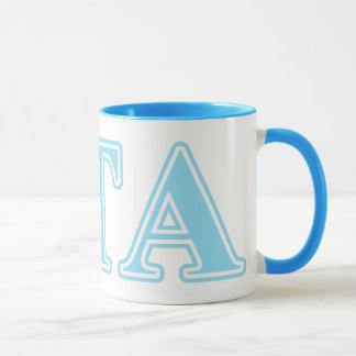 Zeta Tau Alpha Baby Blue Letters Mug