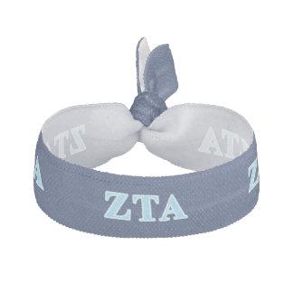Zeta Tau Alpha Baby Blue Letters Ribbon Hair Tie