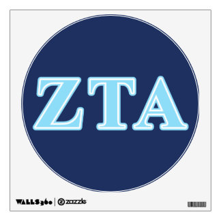 Zeta Tau Alpha Baby Blue Letters Wall Decor