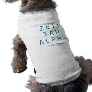 Zeta Tau Alpha Modern Type Shirt